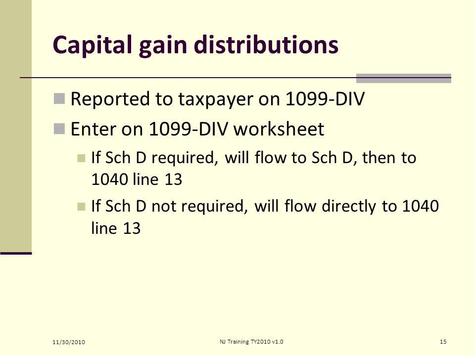 Ine Capital Gain Or Loss Ppt Video Online Download. Capital Gain Distributions. Worksheet. 1040 Capital Gains Worksheet At Clickcart.co
