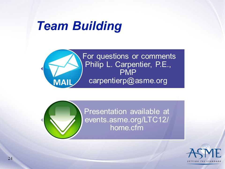 Presentation available at events.asme.org/LTC12/ home.cfm