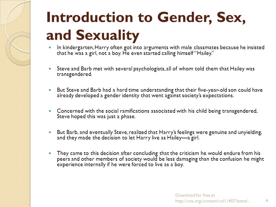 Gender and sexuality in todays society
