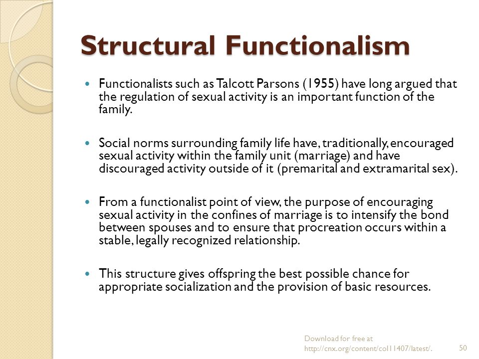 structural functionalism examples family