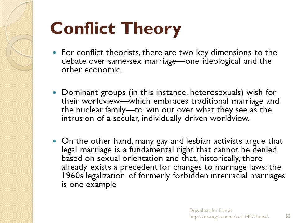examples of conflict theory in family