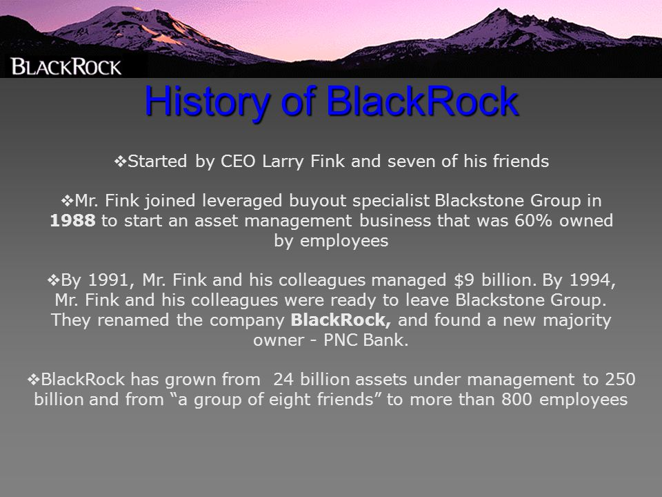 MII Potential Long: BlackRock Financial Management (BLK) - ppt video