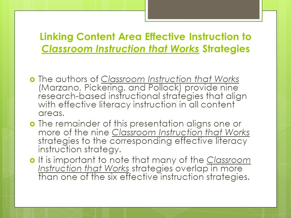 Improving Literacy Instruction Strategies For All Content Areas