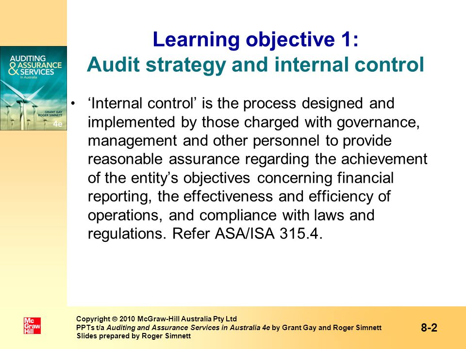 benefit from assessing internal control procedures Internal controls consists of five integrated components 1 control environment the control environment is the set of standards, processes and structures that provide the basis for carrying out internal control across the organization.