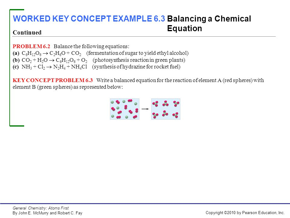 WORKED EXAMPLE 6 1 Balancing a Chemical Equation - ppt video online