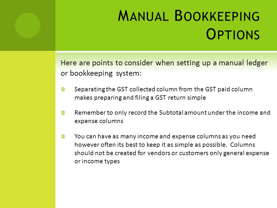 the alberta payroll regulations workshop has been put together with rh slideplayer com in a manual bookkeeping system transactions are first recorded in a manual and computerized bookkeeping systems