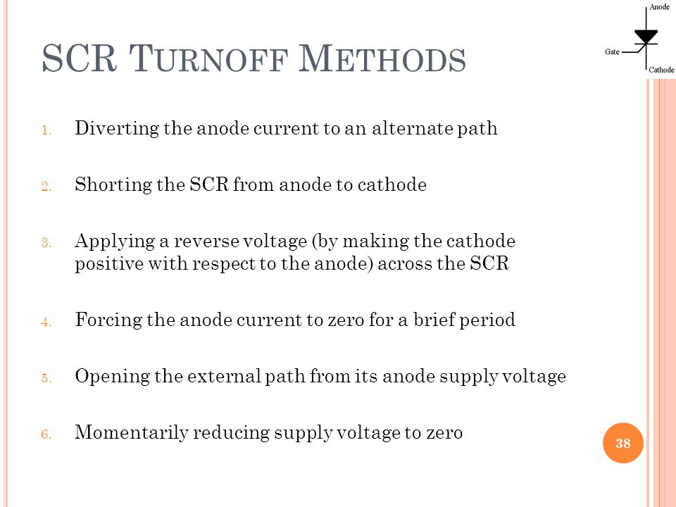 thyristor devices silicon controlled rectifiers (scr) ppt download38 scr turnoff methods