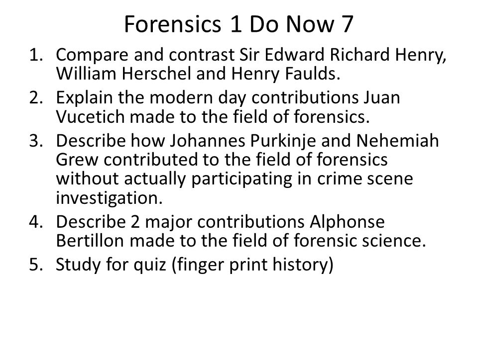sir edward richard henry forensic science