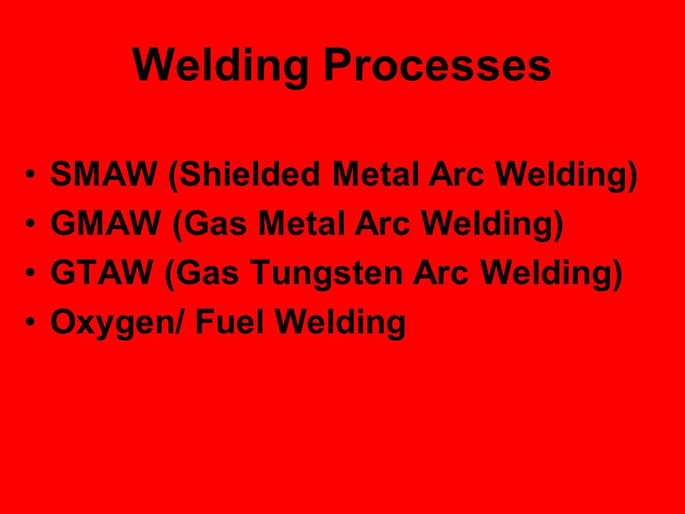 Welding Processes SMAW (Shielded Metal Arc Welding)