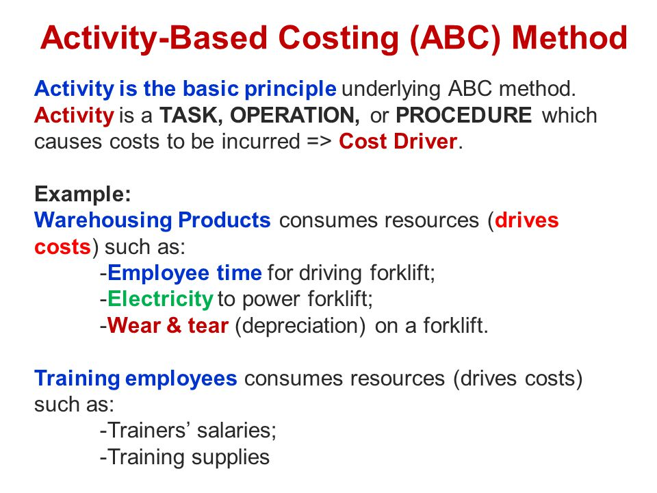activity based costing in higher education Purpose - the purpose of this paper is to discuss how activity‐based costing (abc) technique can be applied in the context of higher education institutions.