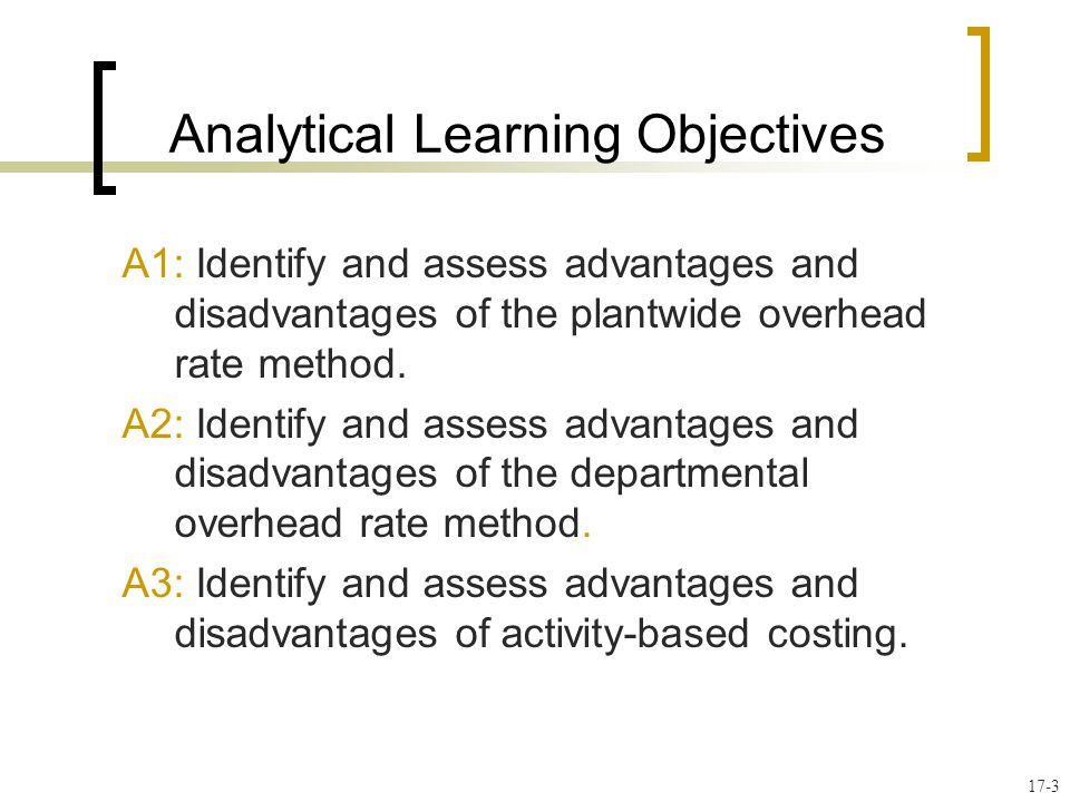 advantages and disadvantages of abc costing