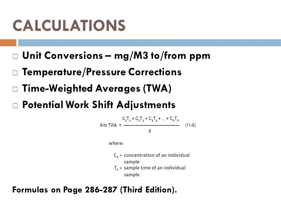 Ppm to mg m3 conversion formula -| vinny. Oleo-vegetal. Info.