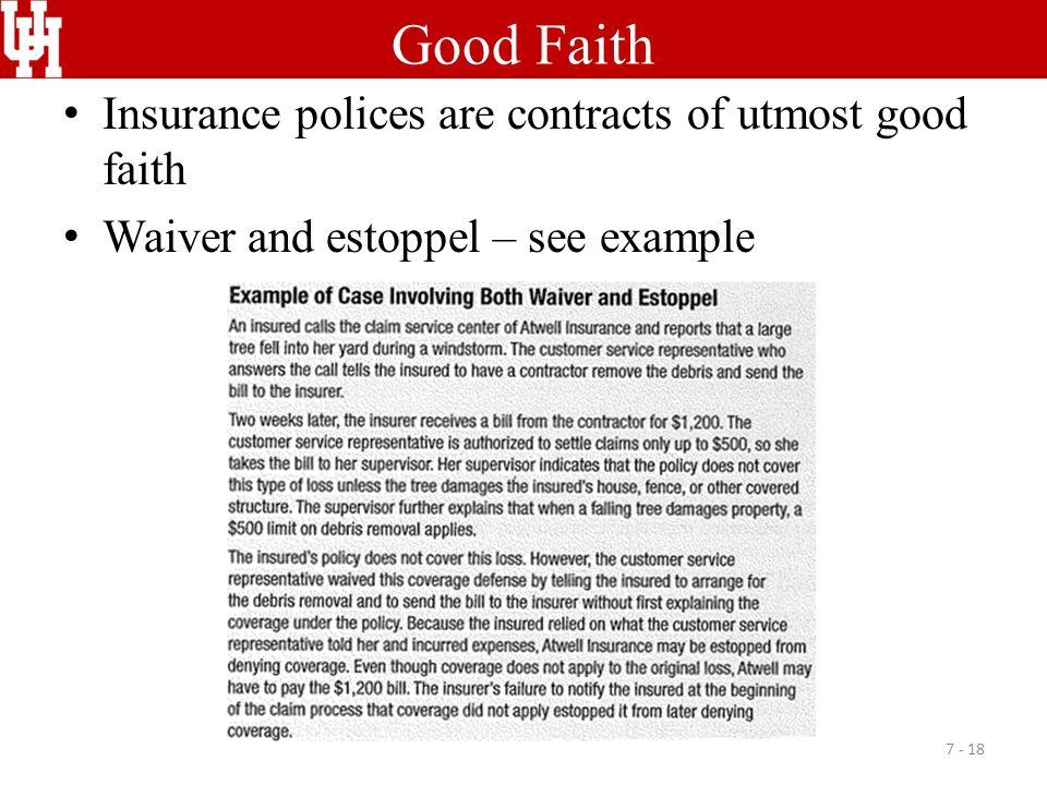 utmost good faith example