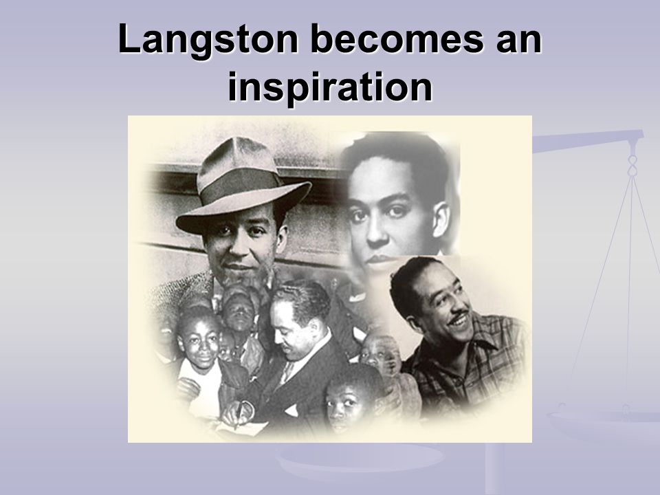 Langston becomes an inspiration