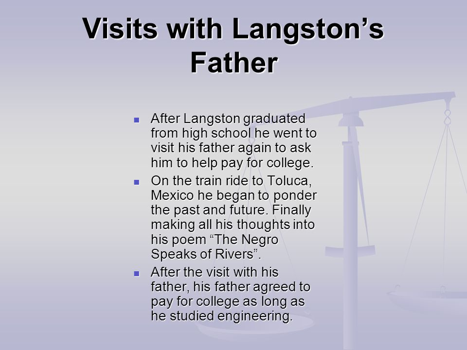 Visits with Langston's Father