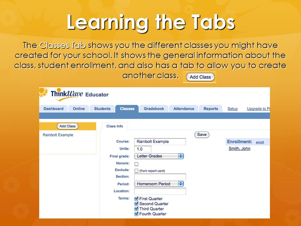 Learning the Tabs