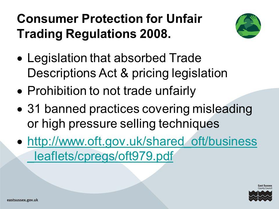 SWC Update & Trading Standards Legislation 15 July 2011 Mina