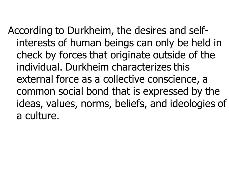 the normal and the pathological durkheim