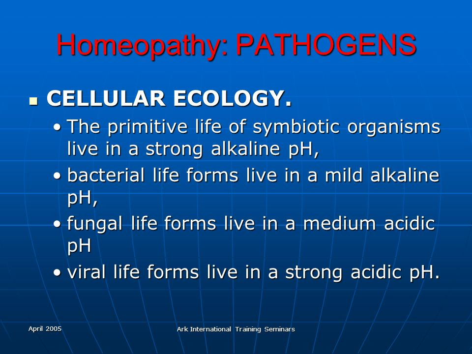 Homeopathy: PATHOGENS
