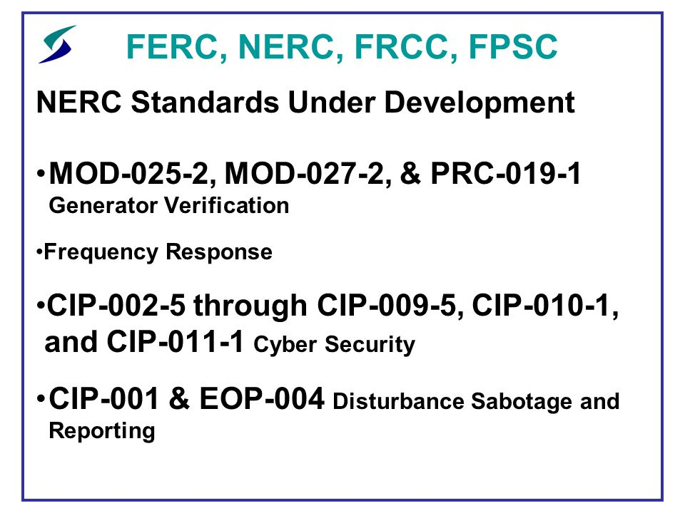 Ferc nerc frcc fpsc an update ppt download ferc nerc frcc fpsc nerc standards under development publicscrutiny Image collections