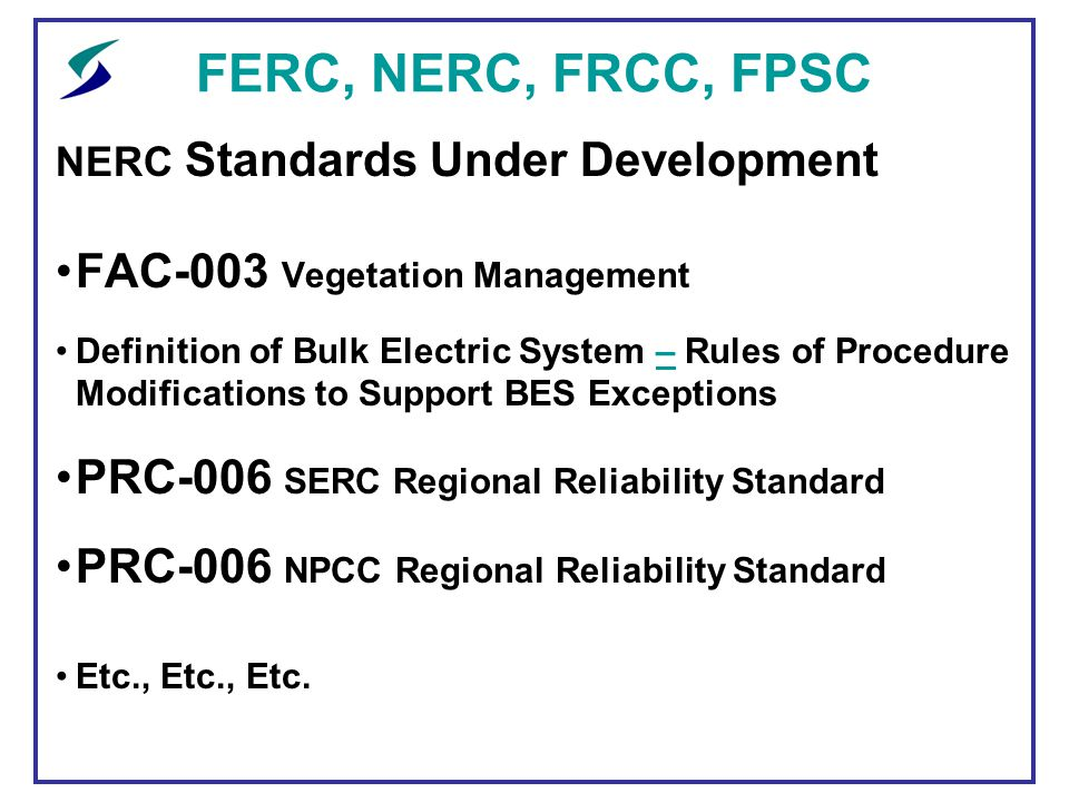 Ferc nerc frcc fpsc an update ppt download ferc nerc frcc fpsc fac 003 vegetation management publicscrutiny Image collections