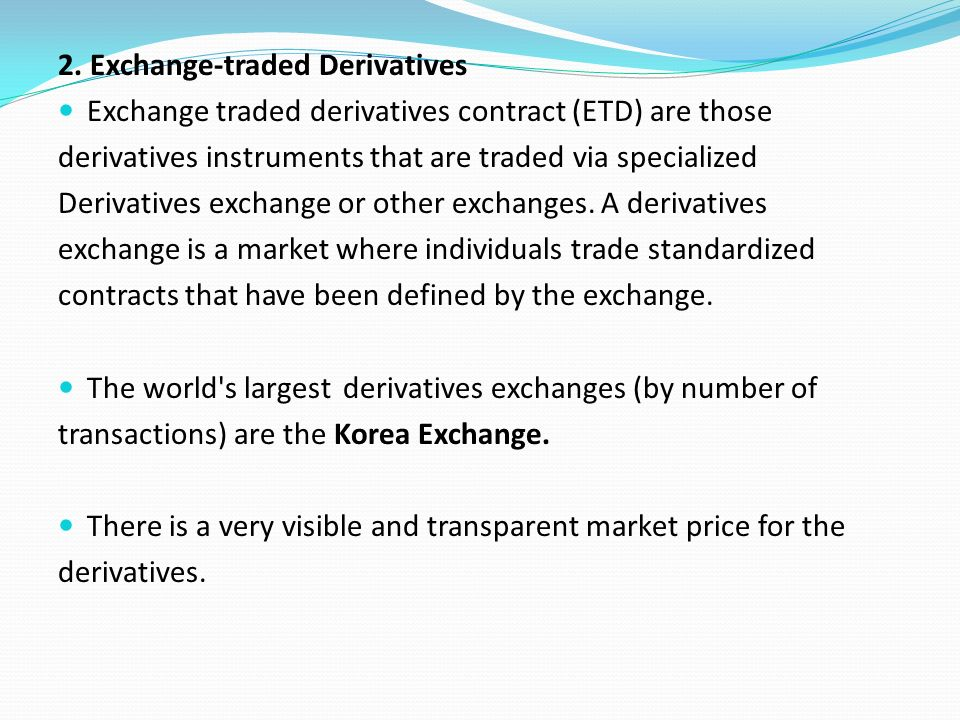 what is an etd trade