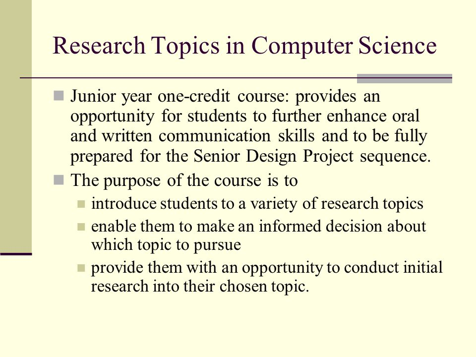 possible science research topics