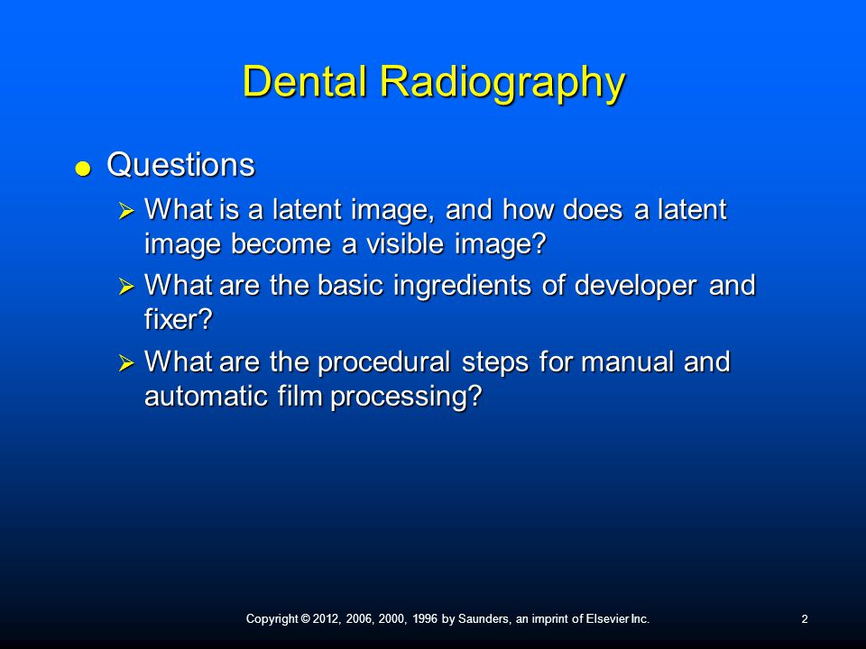 Ppt dental x-ray film processing powerpoint presentation id.