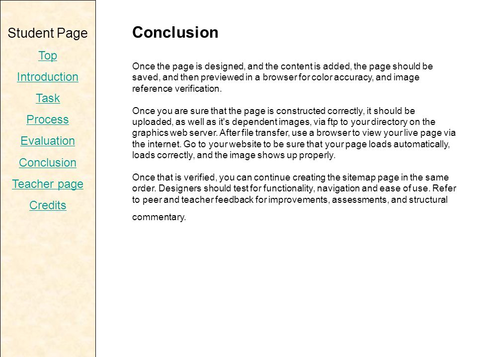content of conclusion