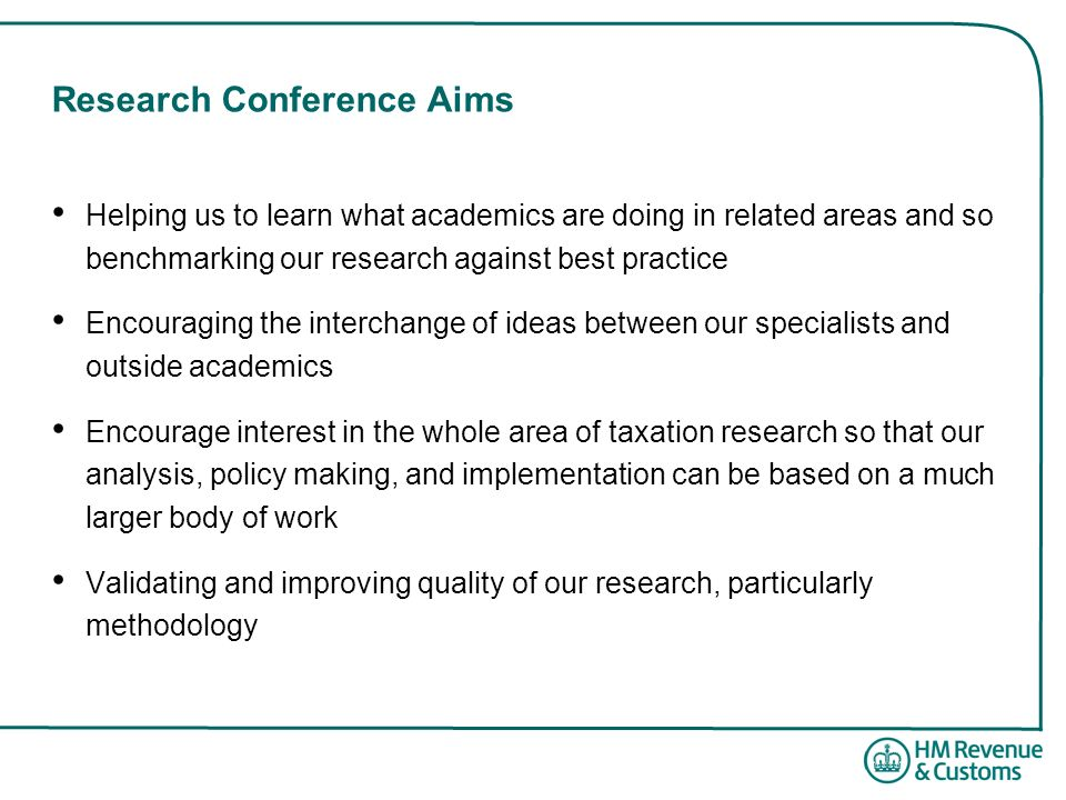 Research Conference Aims