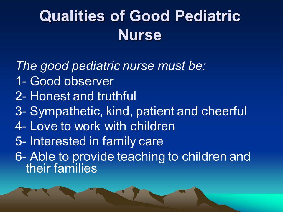 qualities of a good nurse