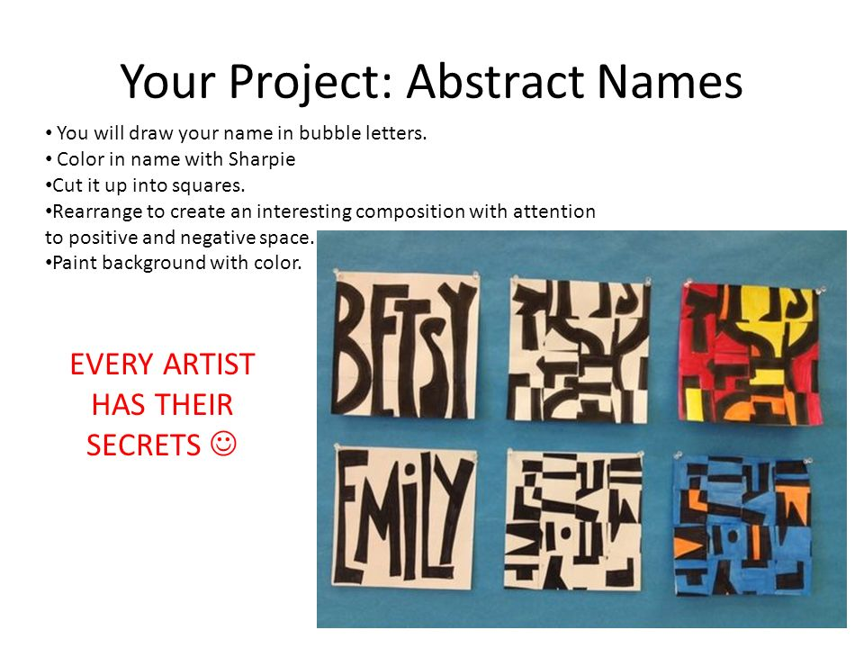 How To Name Your Abstract Art