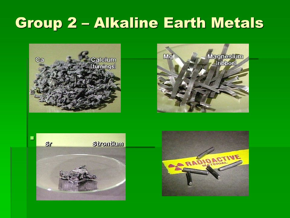 Exceptional 31 Group 2 U2013 Alkaline Earth Metals