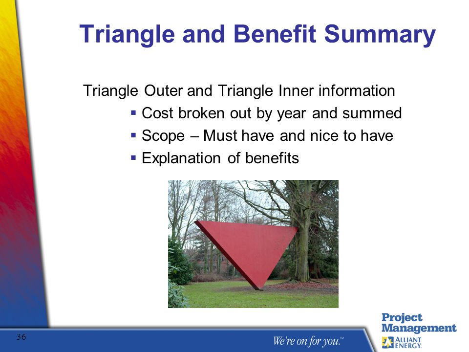 Triangle and Benefit Summary