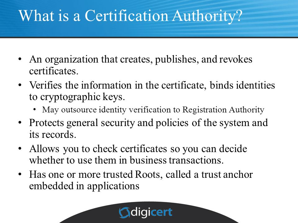 Functions of an X.509 Certification Authority (CA) - ppt video ...