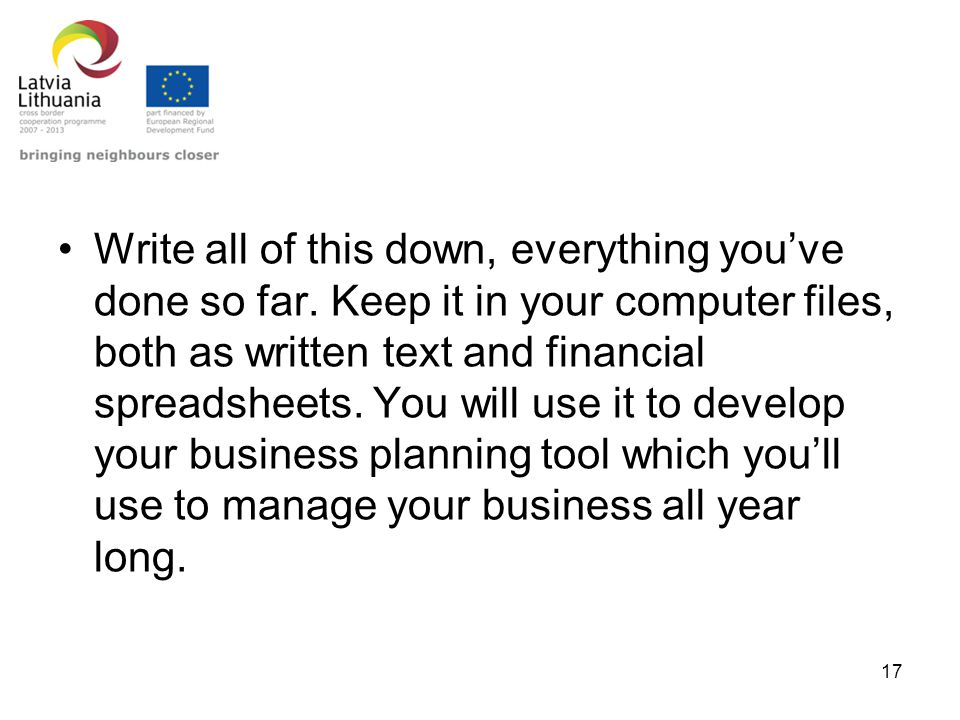 how to write down your business plan