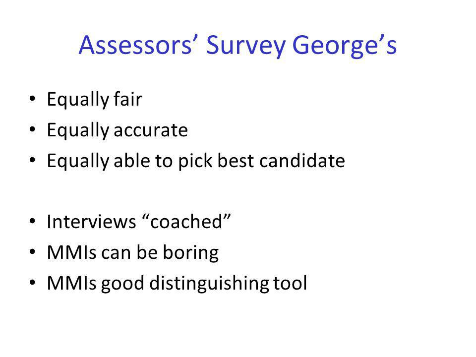 Assessors' Survey George's