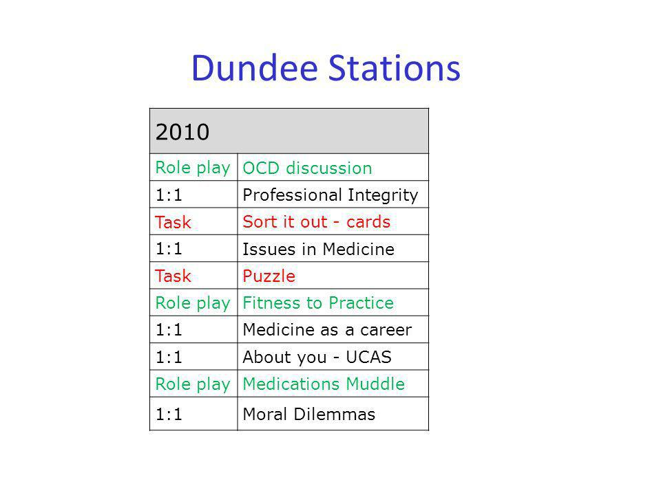 Dundee Stations 2010 Role play OCD discussion 1:1