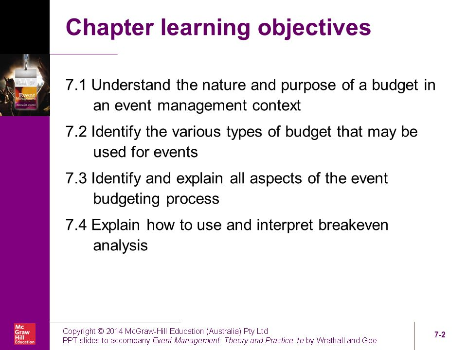 Chapter Seven Event Budgeting Ppt Video Online Download