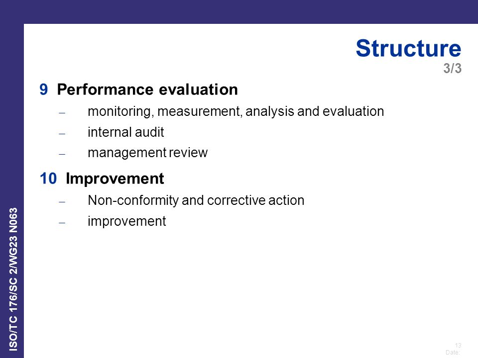Structure 9 Performance evaluation 10 Improvement 3/3