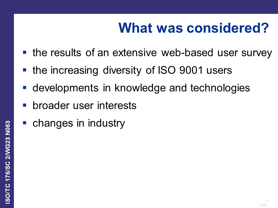 What was considered the results of an extensive web-based user survey