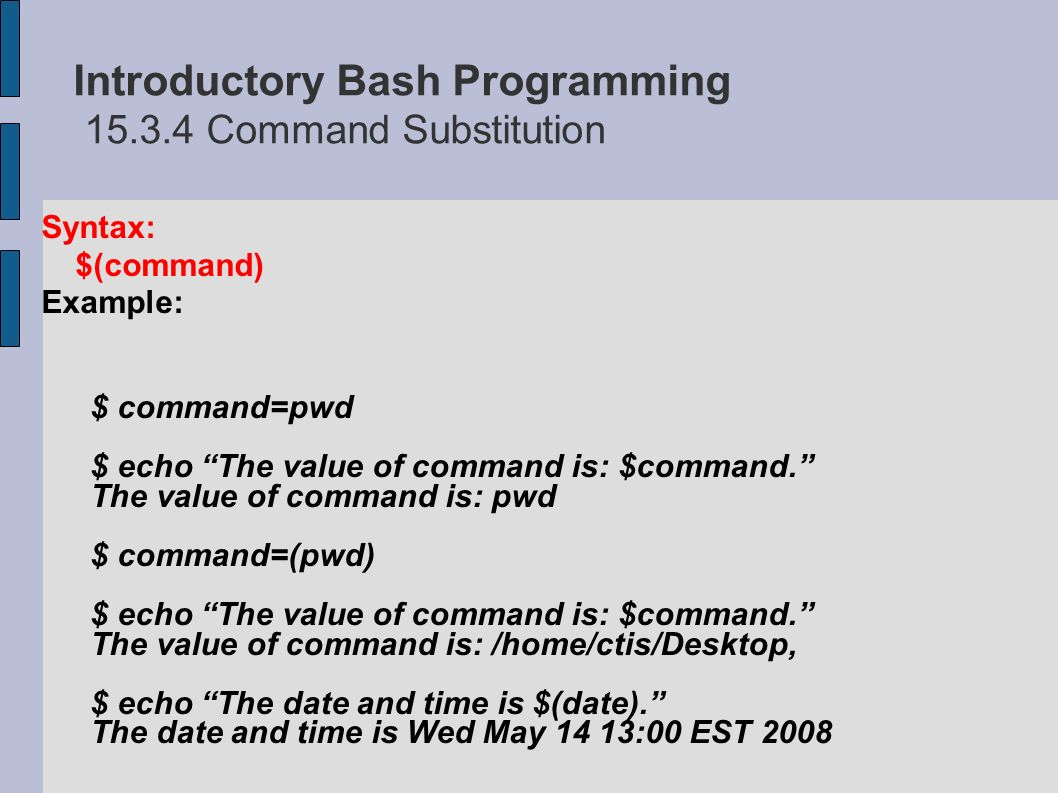 Chapter 15 Introductory Bash Programming - ppt video online download