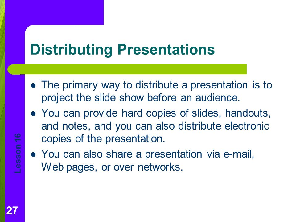 Distributing Presentations