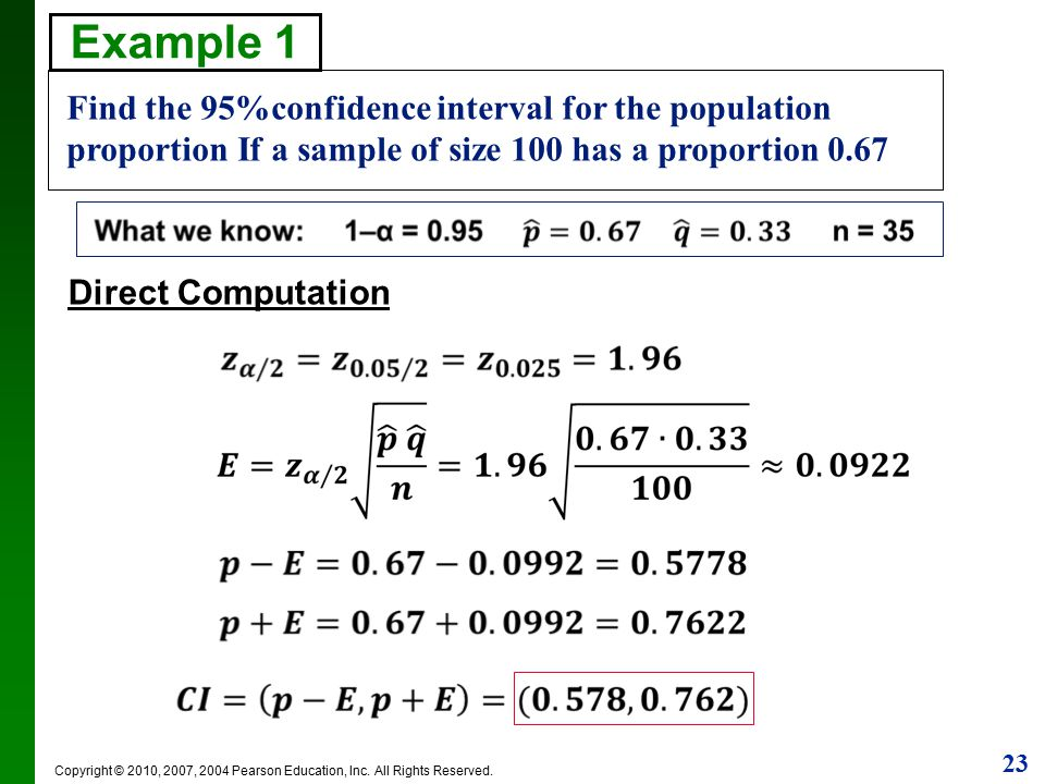 chapter 7 confidence intervals and sample sizes - ppt download