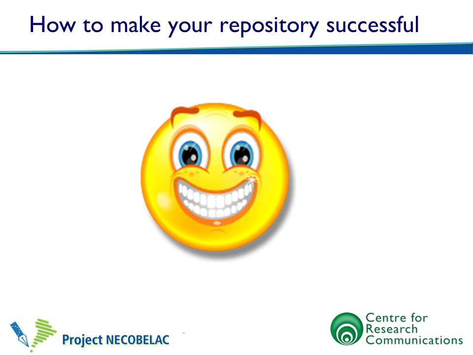 How to make your repository successful