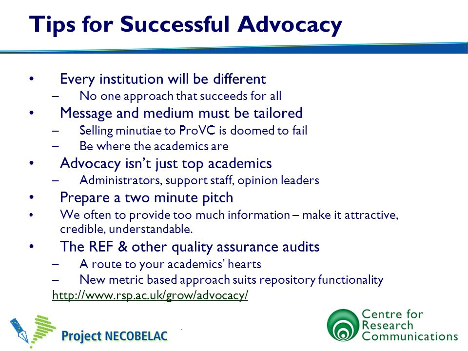 Tips for Successful Advocacy