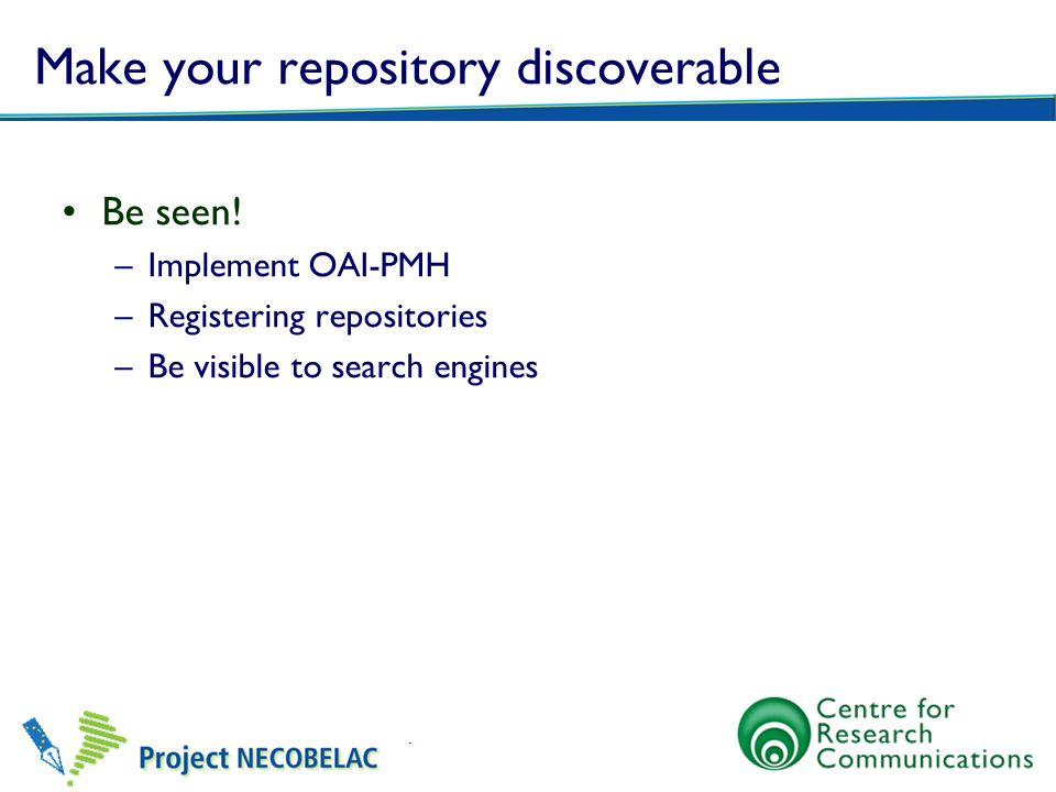 Make your repository discoverable