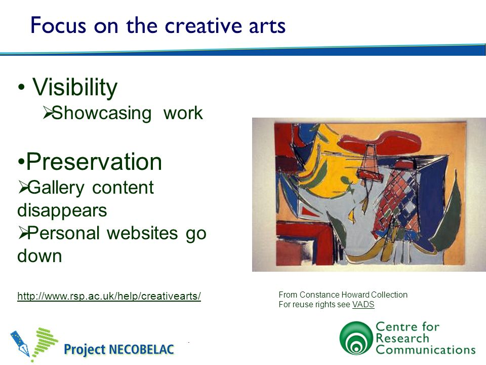 Focus on the creative arts
