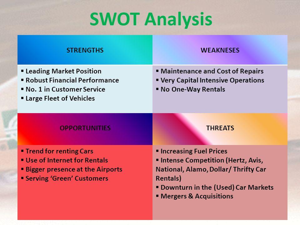 Enterprise Rent A Car Swot Analysis