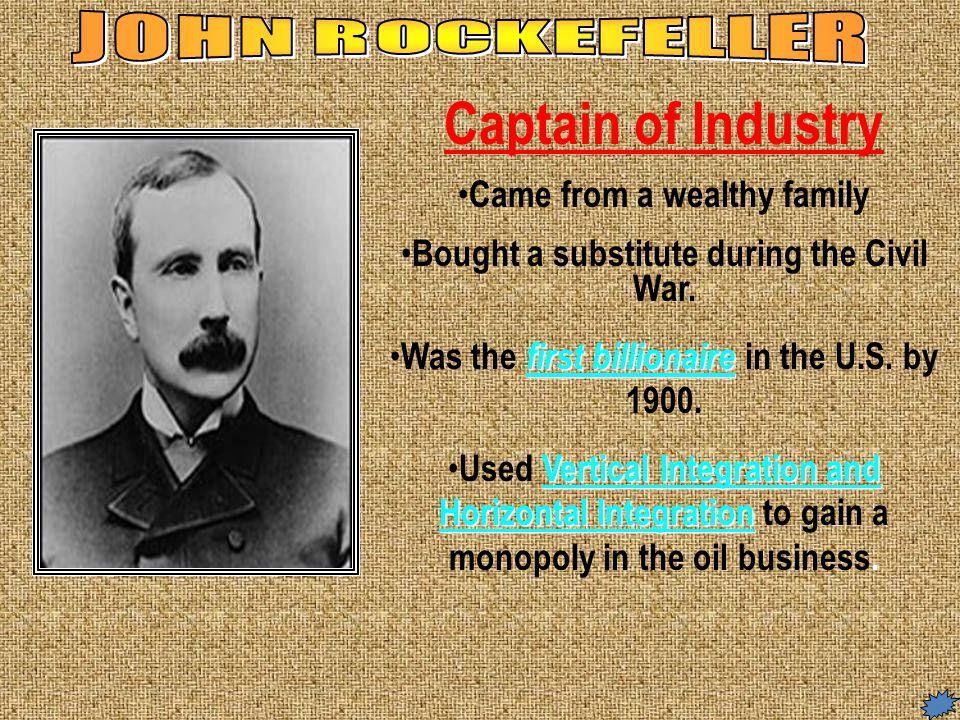 john rockefeller captain of industry